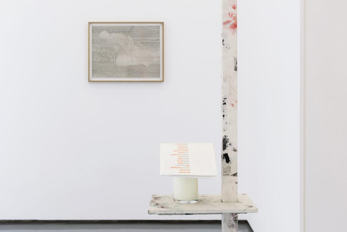 Vista de la exposición Doblar la tierra. Galería The Goma, Madrid, May 25 -Jul 15, 2017.